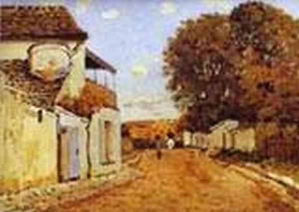 street in louveciennes rue de la princesse 1874